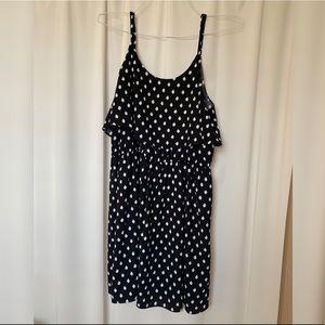 Black and white polka dot dress
